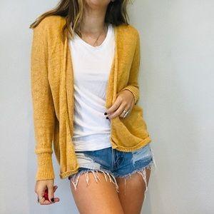 UO BDG mustard yellow knit sweater cardigan